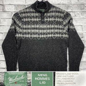 Woolrich Sz Large Shetland & Lambs Wool Sweater